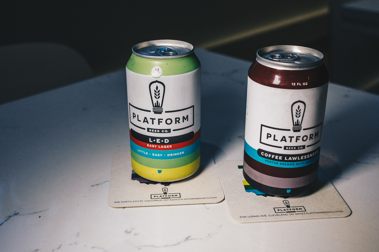 The flagship brewhouse of Platform Beer Co. opened in Cleveland in 2014. They have expanded their taste rooms to Columbus and Cincinnati, with LOCOBA being their latest brainchild of dabbling with new brews and techniques to develop their drinks. / Image: Catherine Viox // Published: 3.5.19