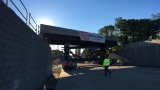McCormick Quarry Bridge moved into place in East Providence
