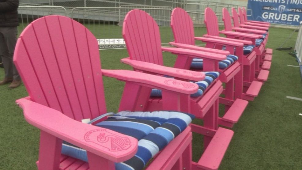 Pink Chairs For American Family Children S Hospital Patients At