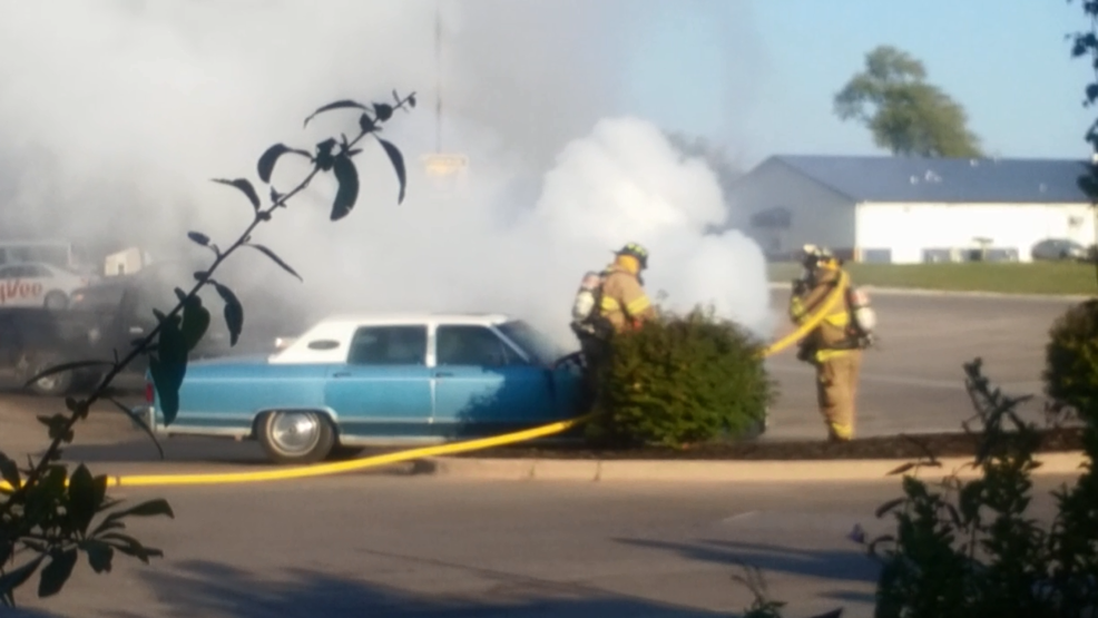 Car Erupts In Flames Outside Kirksville Grocery Store Ktvo