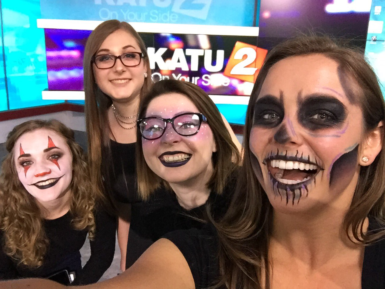Halloween face paint doesn't need to be complicated. Sometimes you can use the makeup you already have at home! (SBG photo)