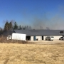 Grass fire threatens Ottumwa businesses