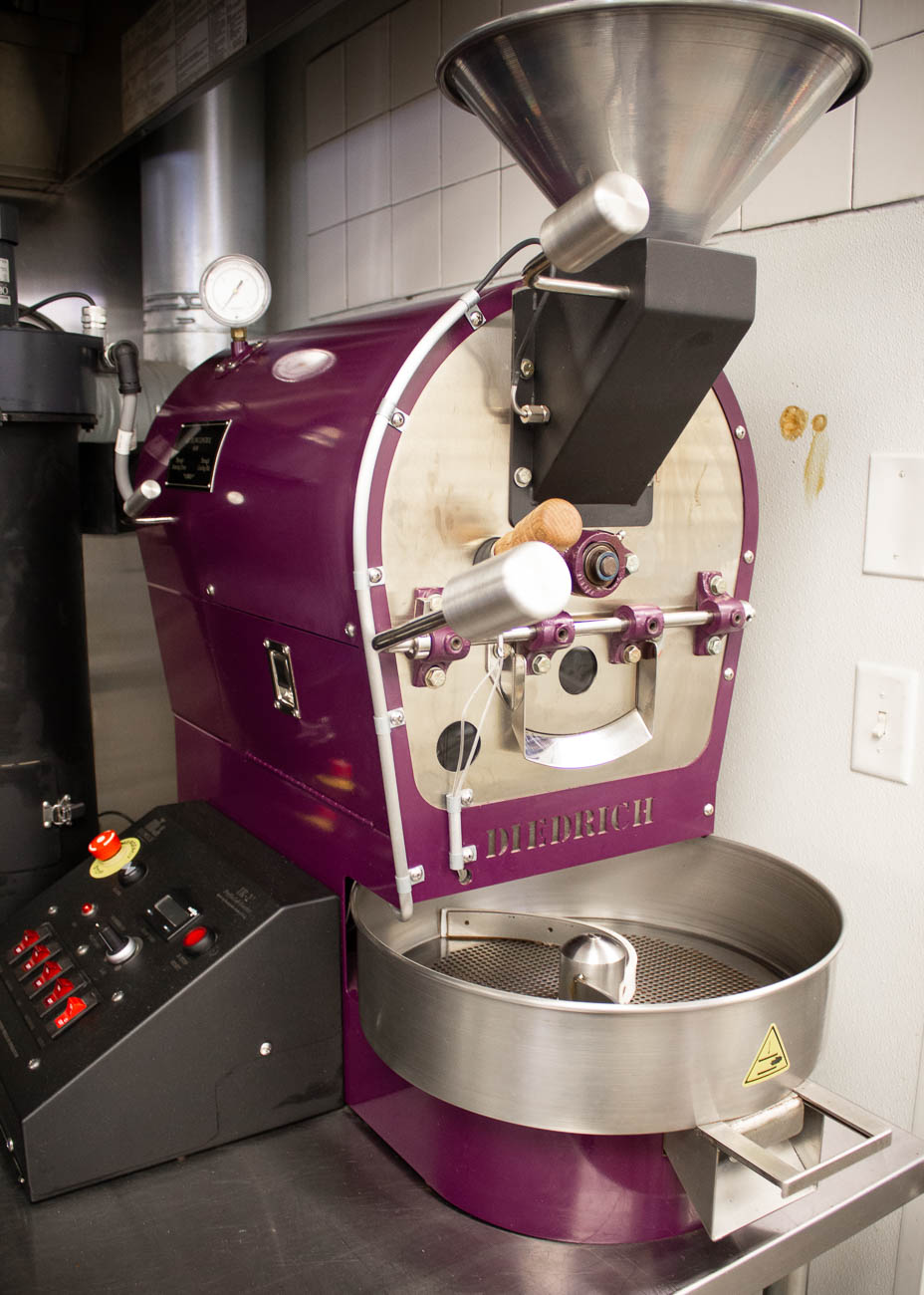 The coffee is freshly roasted in the back. Customers can also buy the coffee by the pound to take home and brew themselves. / Image: Katie Robinson, Cincinnati Refined // Published: 7.8.19