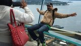 Space Needle's new glass benches let you lean back over the city