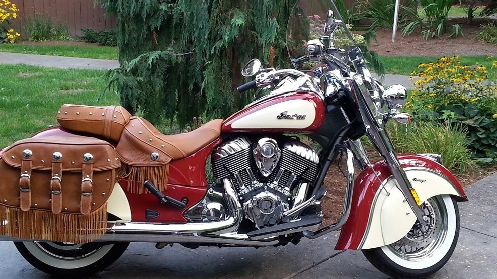 Carlson's new Indian Chief Vintage Motorcycle