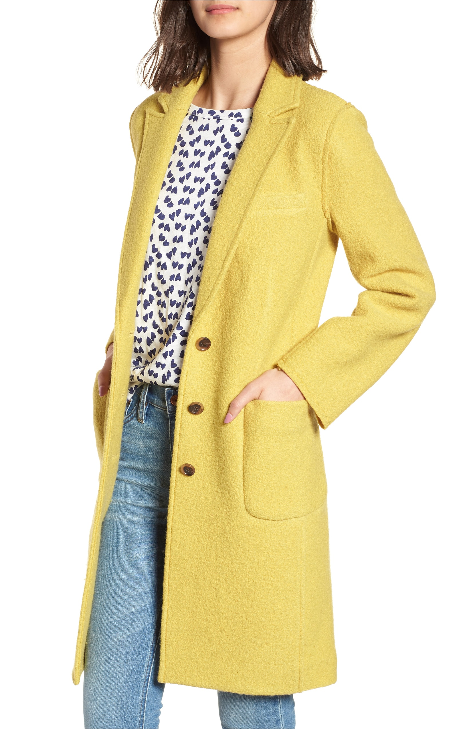 J. Crew Olga Boiled Wool Topcoat. Sale:$184.90 / After Sale:$278.00. (Image: Nordstrom){ }