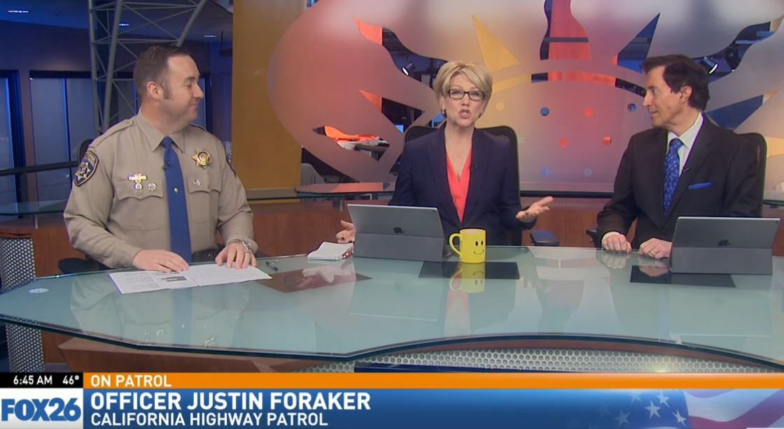CHP Officer Justin Foraker visited Great Day to talk about the dangers of street racing and sideshows.