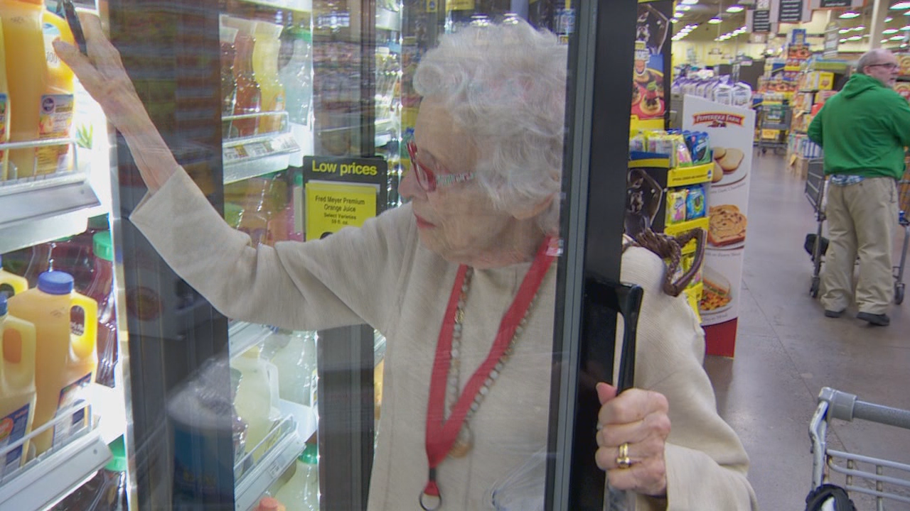 Despite being 91, Jean says she hasn't yet found a grocery item she can't lift.