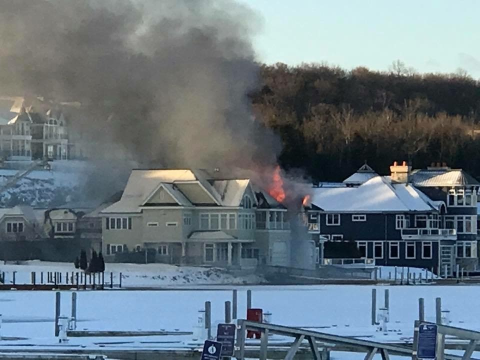 Firefighters were called to a house fire in Bay Harbor early Monday morning.