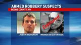 Two arrests made, third suspect wanted in Boone County robbery