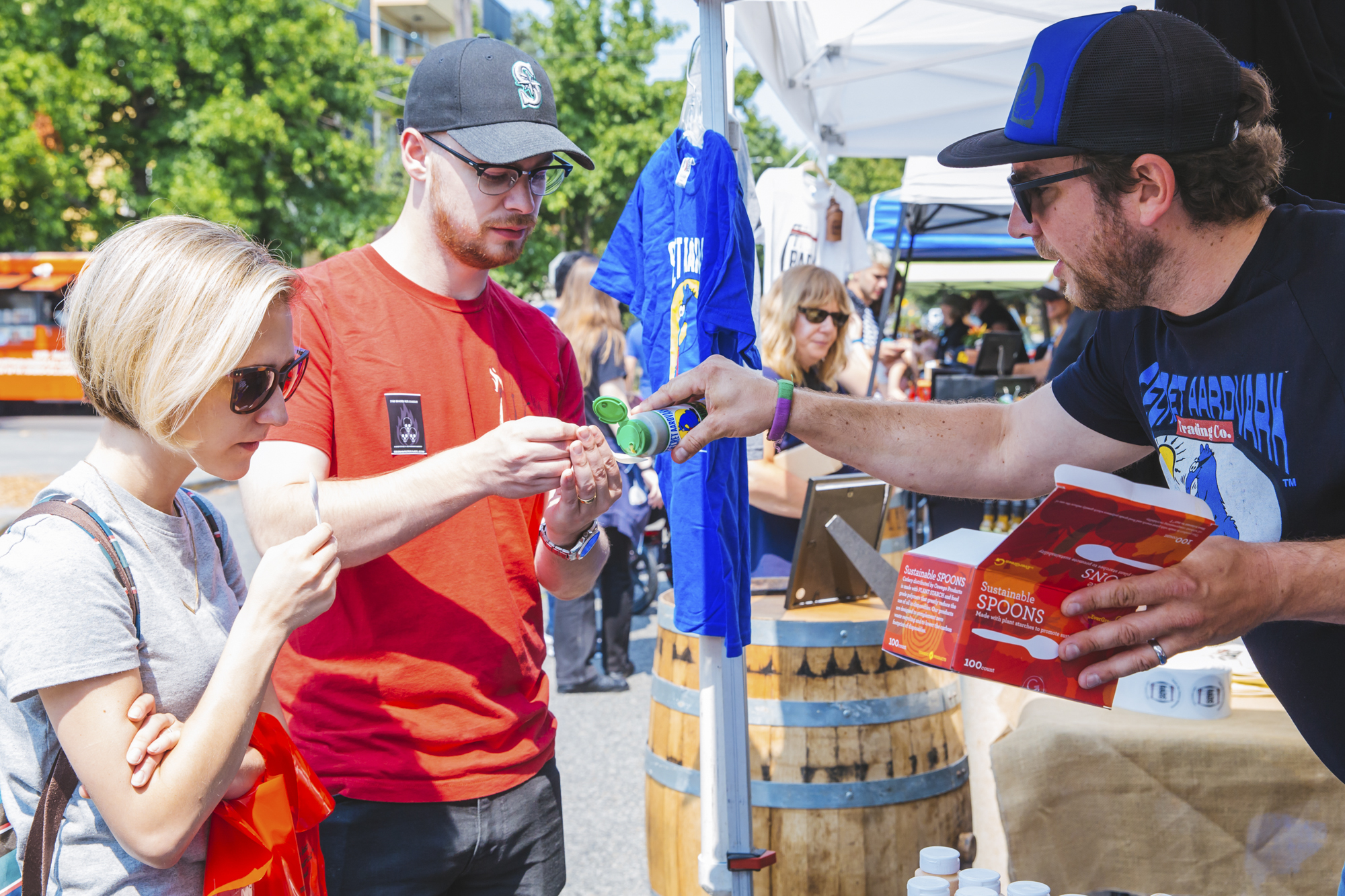 <p>Seattle's *hottest* festival popped up this Saturday, August 18 at Ballard Commons Park and it was hot, hot, HOT! The Hot Sauce Fest featured some of the best hot sauces, food trucks and entertainment. Festival goers washed down the hot sauce burn with beers from Diamond Knot Craft Brewing and cocktails from Heritage Distilling Company (Image: Sunita Martini / Seattle Refined).</p>