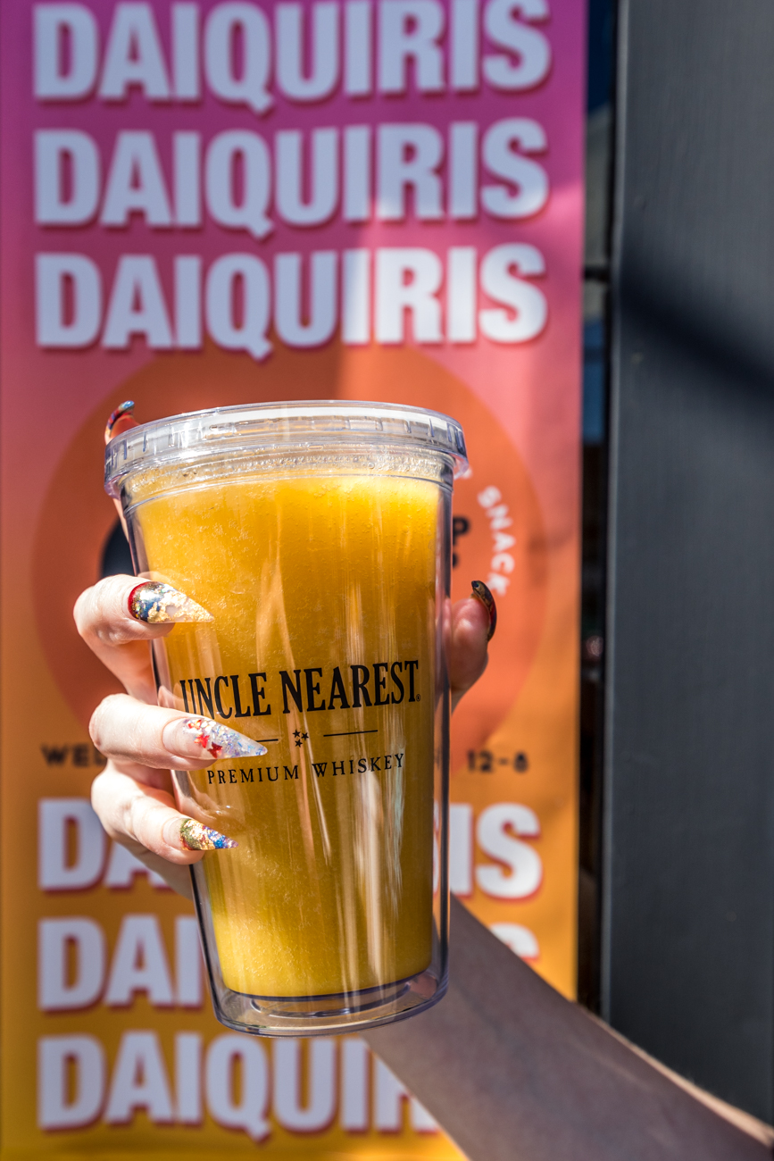 PLACE: Gorilla Cinema's Daquiri + Snacks Pop-Up{ }Shop  / ADDRESS: 6085 Montgomery Road (Pleasant Ridge) / King Mango: Uncle Nearest whiskey, mango puree, and lemon juice / Open outside of the Lonely Pine Steakhouse for a limited time: lonelypinesteakhouse.com / Image: Catherine Viox // Published: 4.28.20