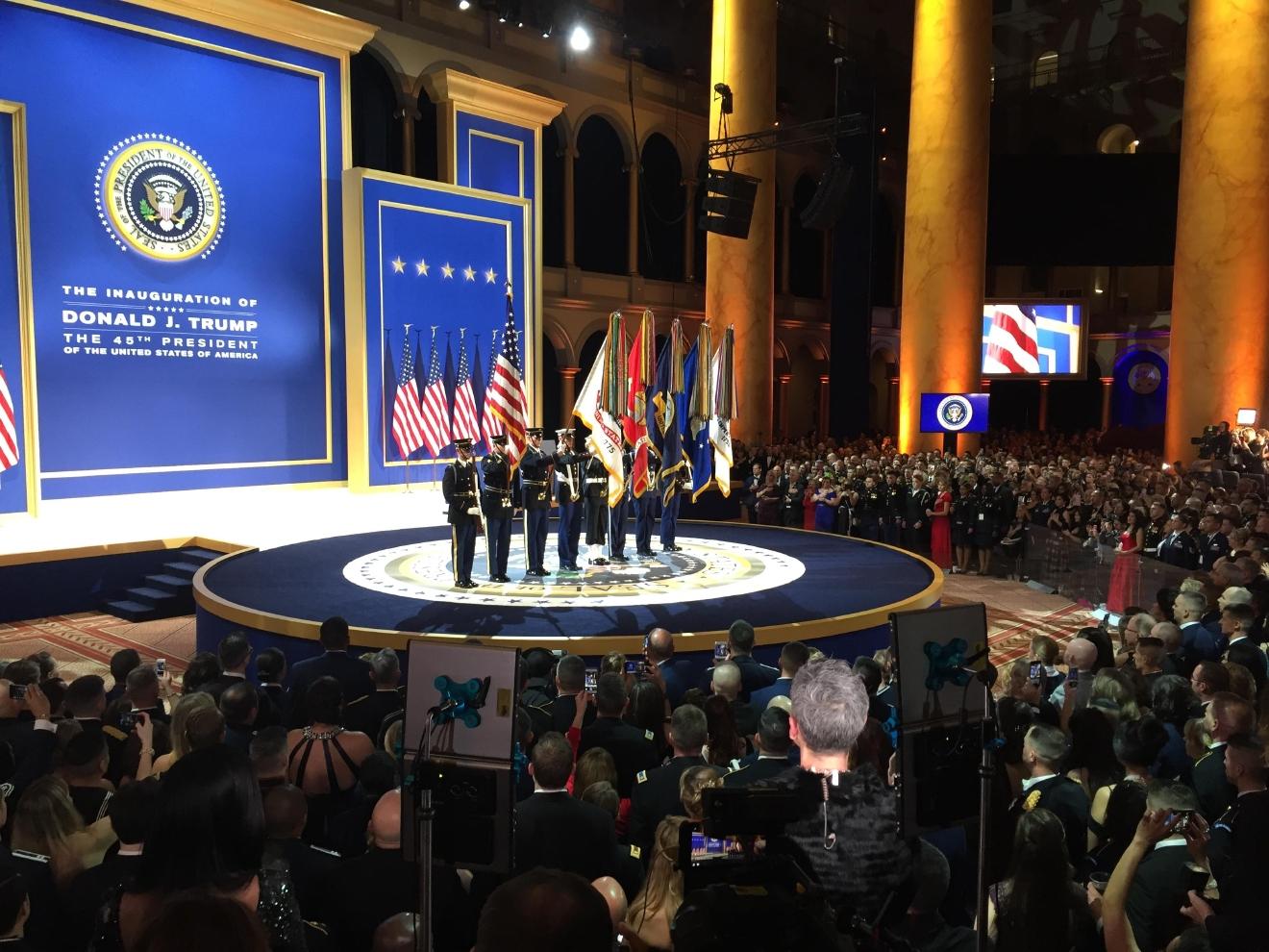 Trump Honors Service Members at Military Ball