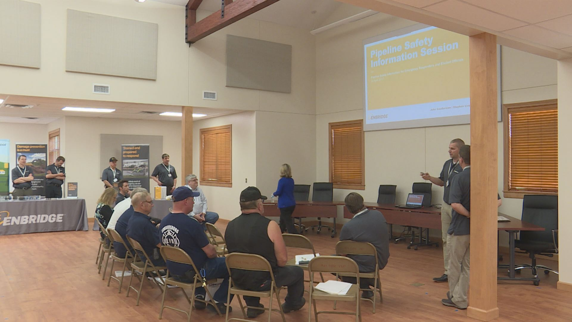Enbridge reassures Niles residents safety has improved 7 years after oil spill. //WSBT 22 photo