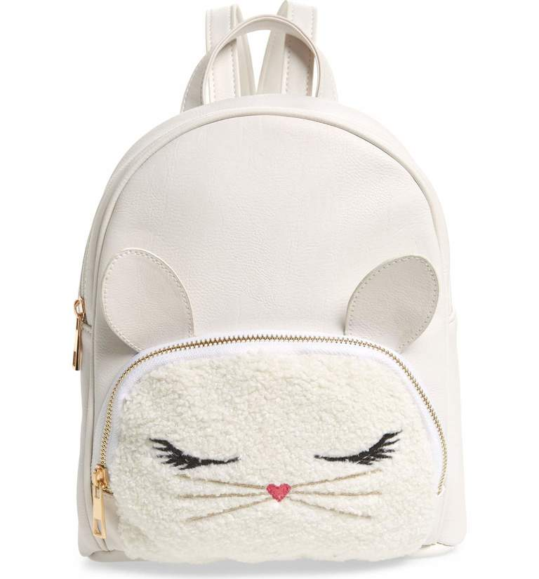I know this is technically for a little gal, but I want it.{ } Some bunny will love this fuzzy little backpack, featuring adorable ears and plenty of space for essentials. So cute! Price: $36 at Nordstrom. (Image: Nordstrom){ }