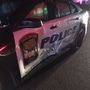 Driver arrested for DUI after hitting police car