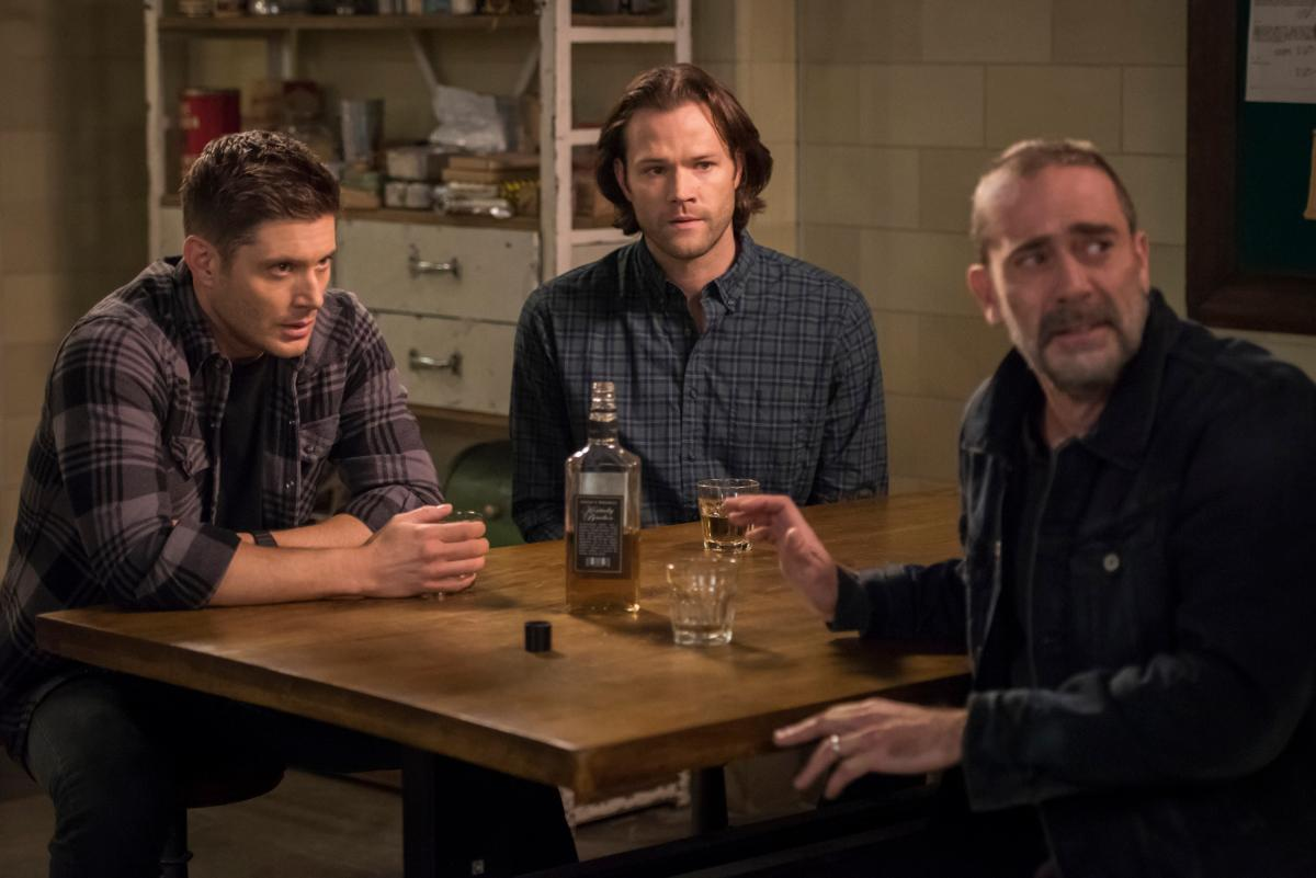"Supernatural -- ""Lebanon"" -- Image Number: SN1413C_0024b.jpg -- Pictured (L-R): Jensen Ackles as Dean, Jared Padalecki as Sam and Jeffrey Dean Morgan as John Winchester -- Photo: Dean Buscher/The CW -- �© 2019 The CW Network, LLC. All Rights Reserved."