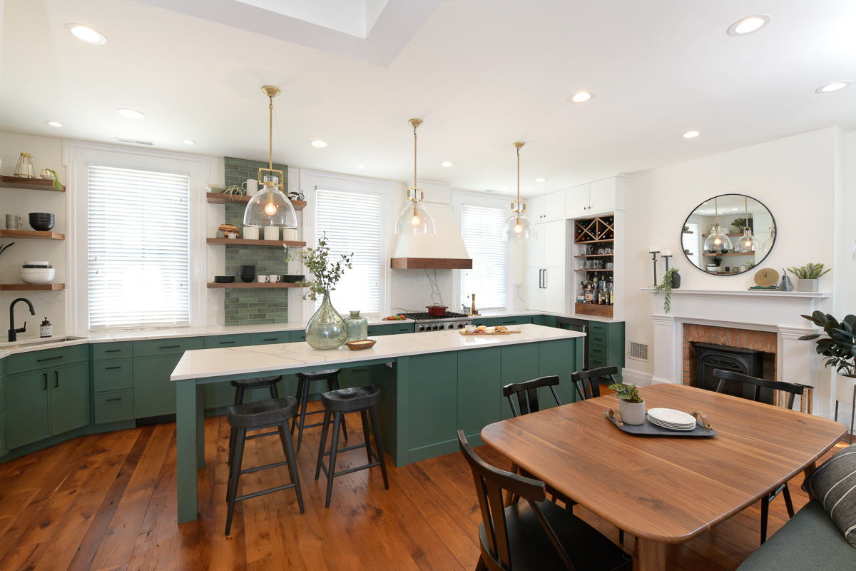 "Richard Huff and Erin Davren recently had the kitchen in their Prospect Hill home totally renovated by Neal's Design Remodel. Richard, who owns{&nbsp;}<a  href=""http://cincinnatirefined.com/eat-drink/the-bagelry-bagels"" target=""_blank"" title=""http://cincinnatirefined.com/eat-drink/the-bagelry-bagels"">The Bagelry</a>{&nbsp;}in Over-the-Rhine, and Erin wanted a larger kitchen to accommodate their love of hosting and entertaining as well as their appreciation for cooking. / Image: Daniel Feldkamp // Published: 11.1.20"