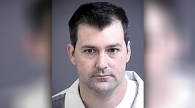 This May 2017 mugshot of Michael Slager was taken after he pleaded guilty to use of excessive force ahead of his federal trial in Charleston related to Walter Scott's death. (Charleston County Detention Center)