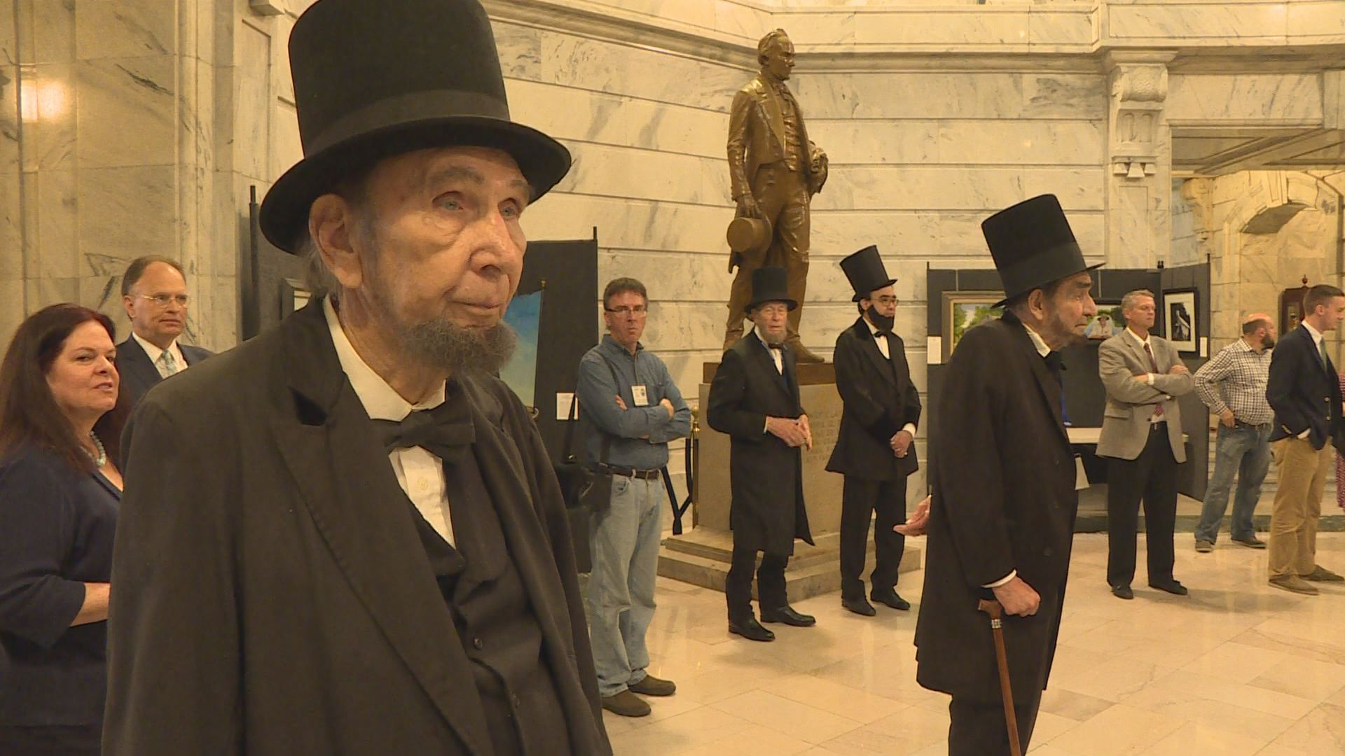 Lincoln presenters looked right at home in the halls of government.