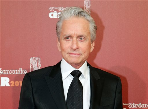 FILE - In this Feb. 26, 2016 file photo, U.S actor Michael Douglas arrives at the 41st French Cesar Awards Ceremony, in Paris. Douglas is donating his personal collection of more than three dozen film prints to RochesterÂ?s George Eastman Museum. Officials at the photography museum said Thursday, March 31, that the Douglas collection of 35 mm and 16 mm prints, 37 in all, includes more than 30 that he starred in or produced. (AP Photo/Thibault Camus, File)