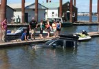 Pickup truck submerged at Gleason Boat Ramp - Multnomah County Sheriff's Office photo - 1.jpg