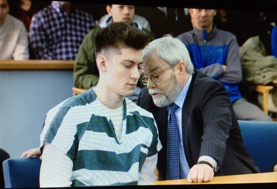 Allen Ivanov and his attorney at Ivanov's sentencing hearing in Everett on Thursday, Jan. 12, 2017. (Photo: KOMO News)