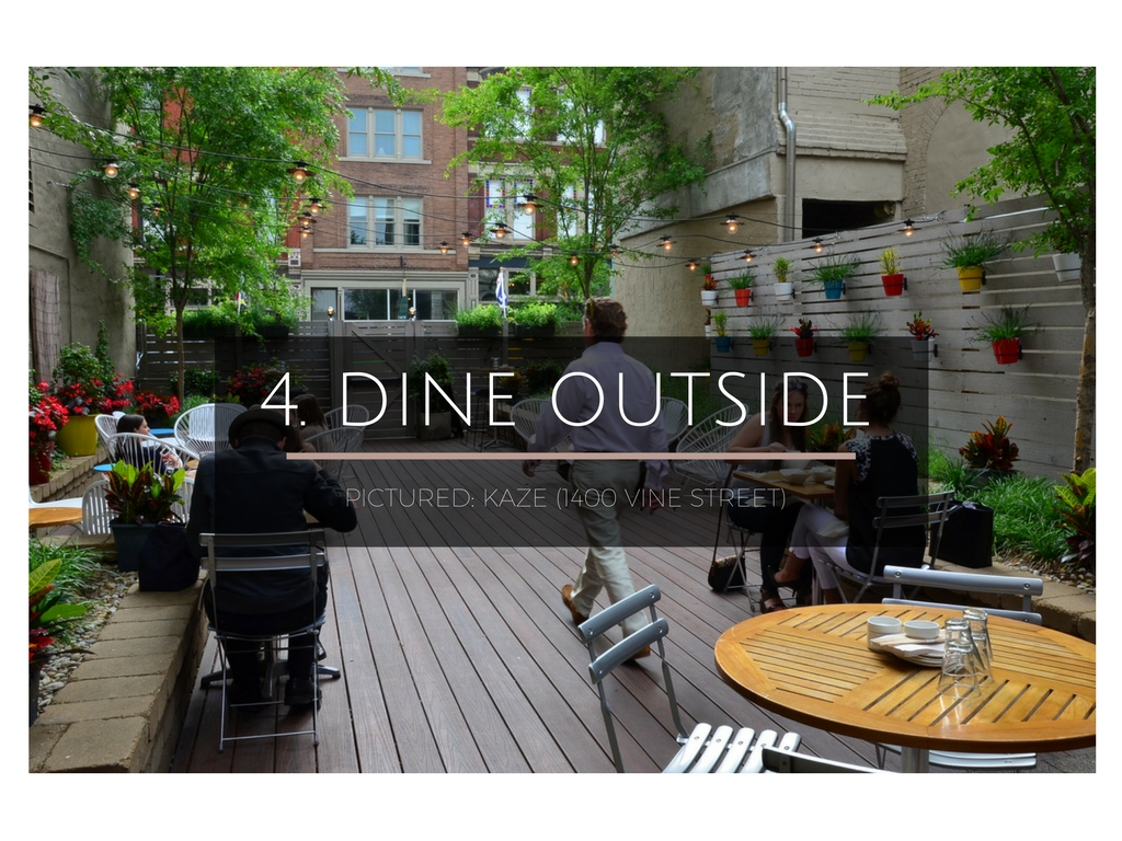 CINCY SUMMER BUCKET LIST ITEM #4: Dine somewhere outside / PICTURED LOCATION: Kaze (1400 Vine St. 45202) // IMAGE: Leah Zipperstein, Cincinnati Refined