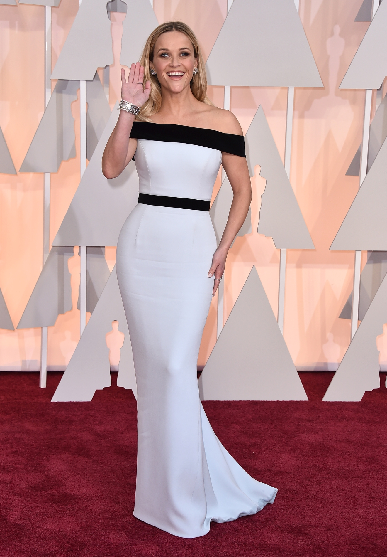 Reese Witherspoon attends the Academy Awards ceremony in Los Angeles on Feb. 22, 2015. (Photo credit: Jordan Strauss/Invision/AP.)