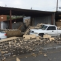 Cinder block wall collapses downtown, damaging Chattanooga Public Works cars