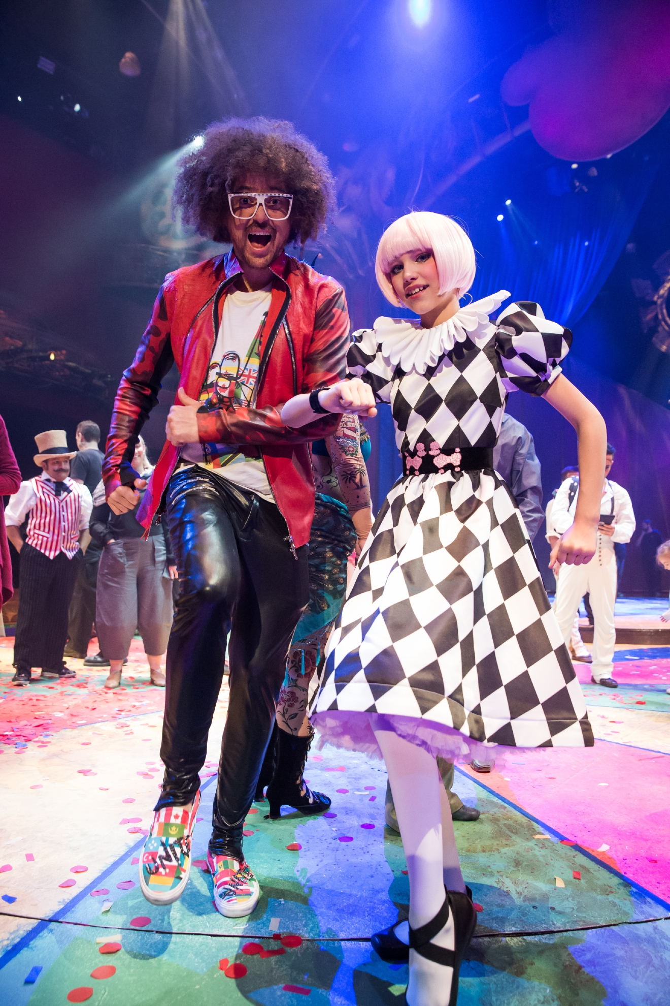 Redfoo and Grace VanderWaal star in the fifth annual One Night for One Drop in Las Vegas, March 3, 2017. (Photo courtesy of Erik Kabik/ErikKabik.com)
