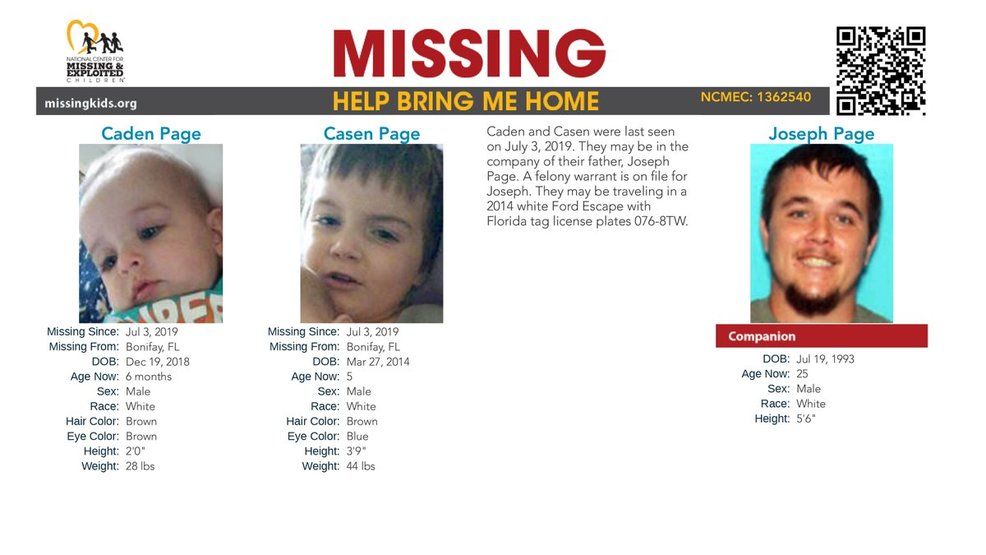 Amber Alert Cancelled For Two Florida Brothers Wjtc