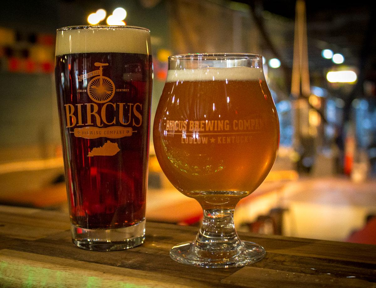 Bircus serves a dozen different beers out of their brewery. / Image: Austin Coop // Published: 2.7.19
