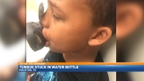 Boy needed surgery after getting tongue stuck in water bottle
