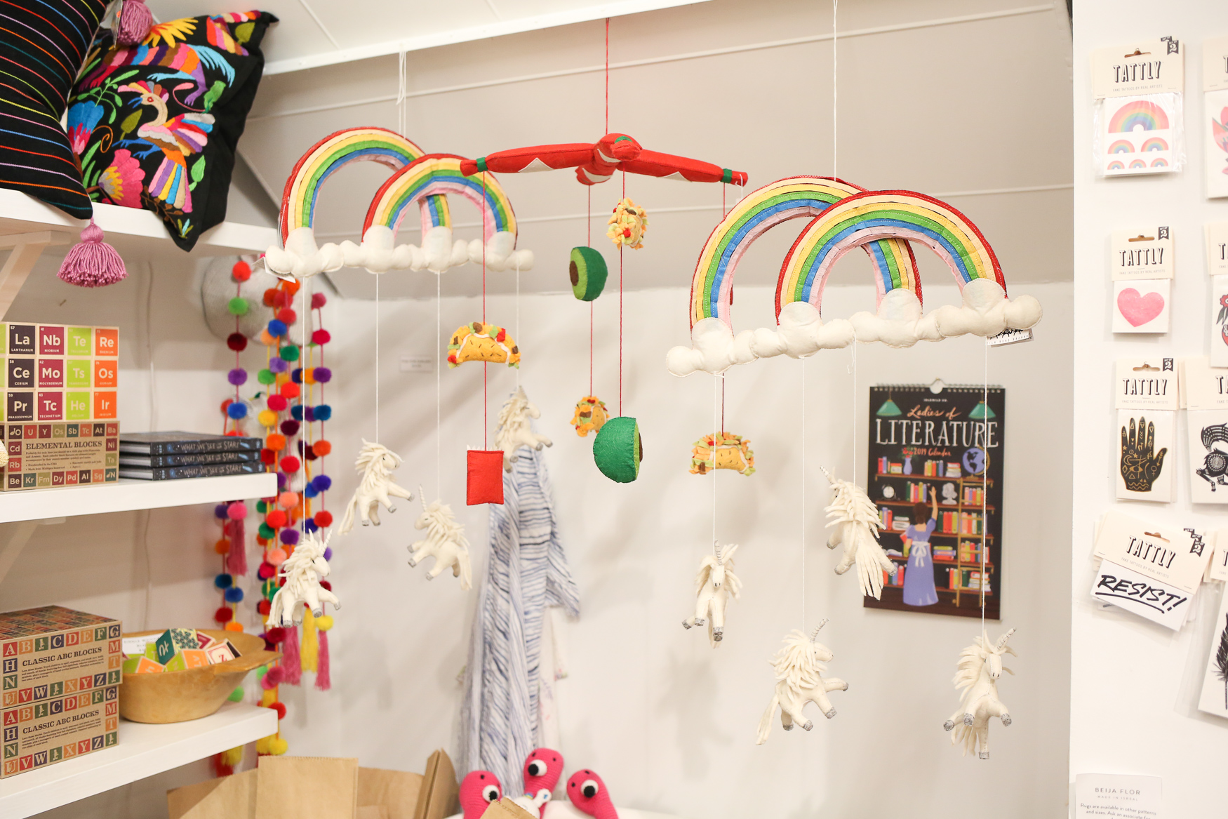 Where: Salt & Sundry<br><p>What: A felt mobile<br>The giftee: The friend that's expecting, but they won't be a regular mom, they'll be a cool mom.{&nbsp;}<br>Cost: $45<br>(Amanda Andrade-Rhoades/DC Refined)</p>