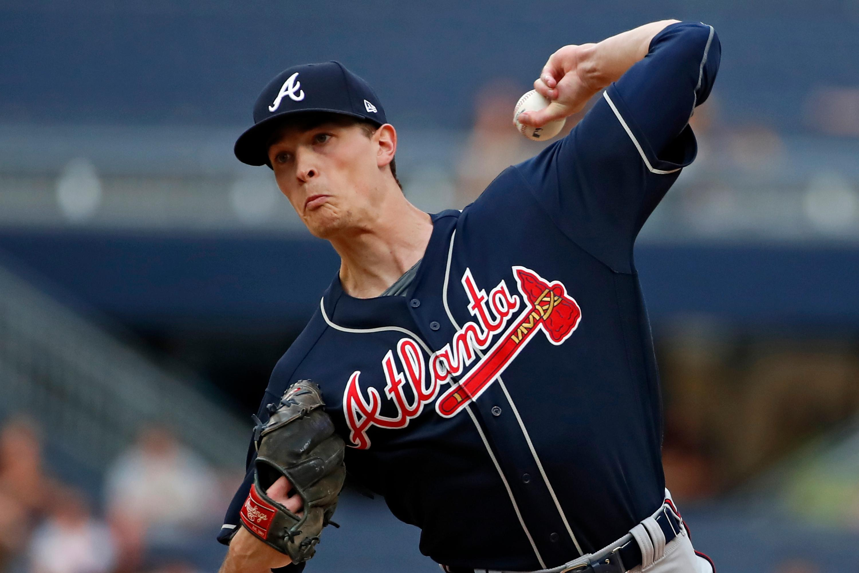 Atlanta Braves starting pitcher Max Fried delivers during the first inning of the team's baseball game against the Pittsburgh Pirates in Pittsburgh, Tuesday, June 4, 2019. (AP Photo/Gene J. Puskar)