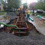 Crews in E. Rochester fix crack in sewer pipe