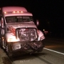 Two semi drivers recovering from rear-end collision in Mattawan