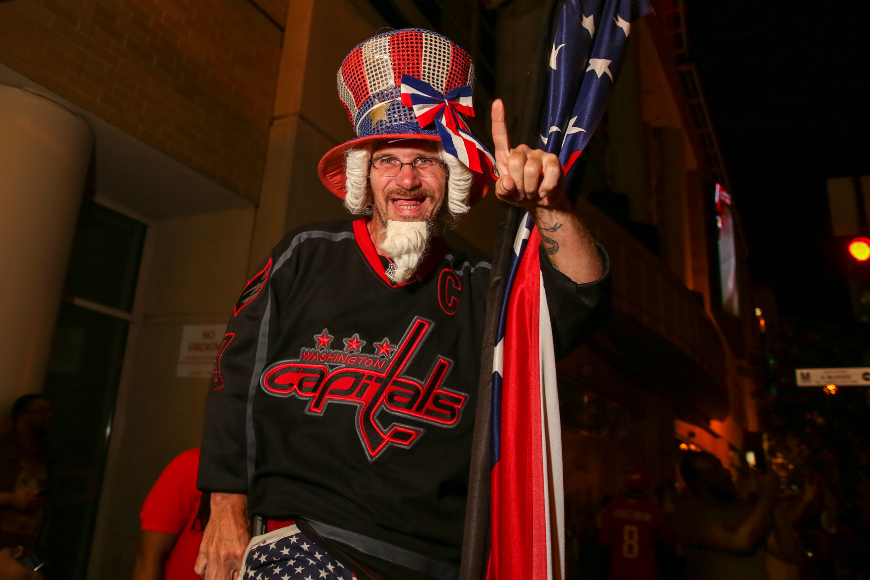 Thousands of fans cried, cheered and celebrated as the Washington Capitals finally won the Stanley Cup after an intense game against the Las Vegas Knights. Here was the scene outside Capital One Arena. (Amanda Andrade-Rhoades/DC Refined)
