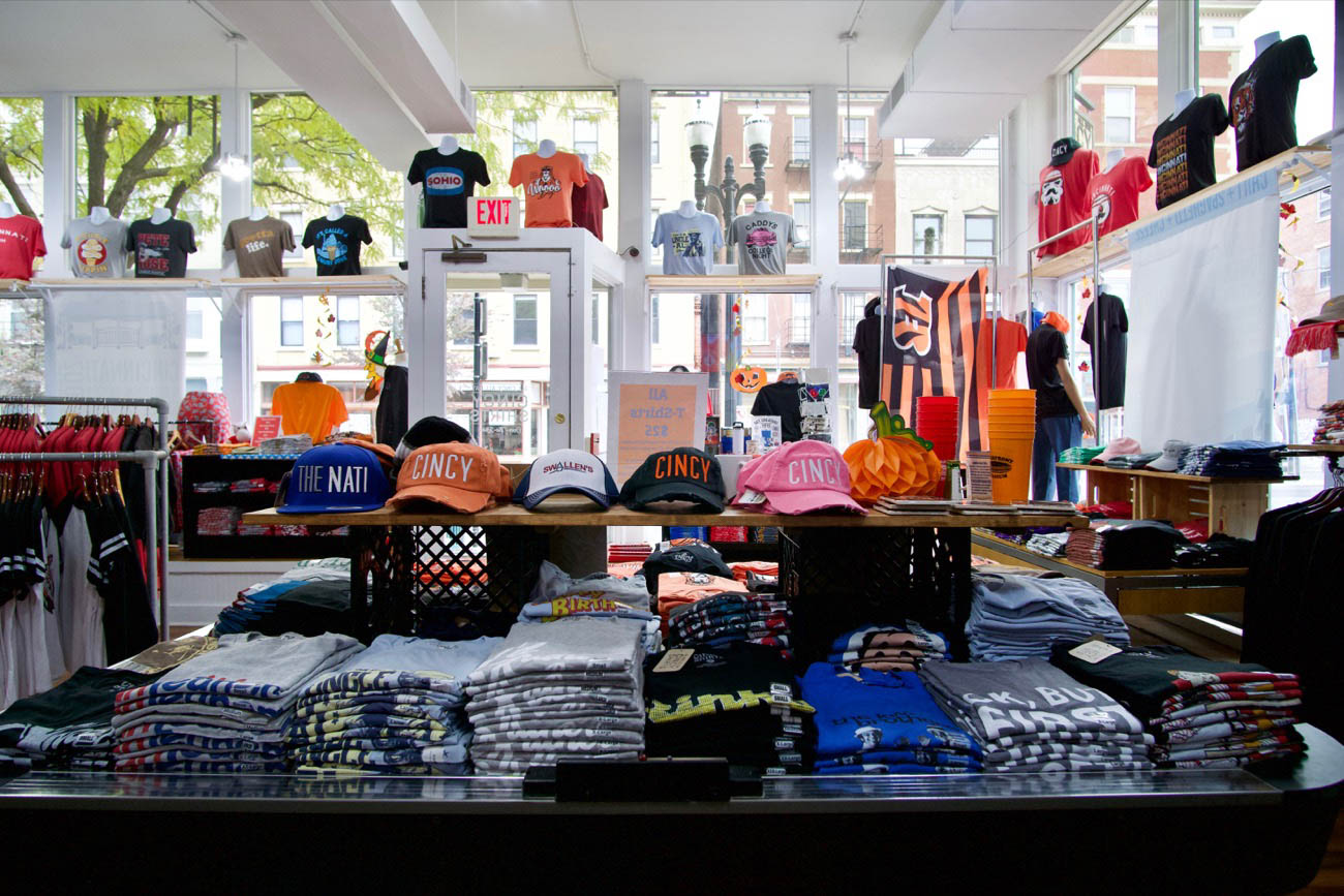 Cincy Shirts (local apparel and merchandise) / Cincy Shirts offers an everchanging collection of custom-designed clothing and other items that are themed around Cincinnati happenings, characters, sports teams, and other local tropes that are usually comedically charged. / ADDRESS: 1301 Main Street (Over-the-Rhine) / WEBSITE: cincyshirts.com / Image: Brian Planalp // Published: 3.19.20