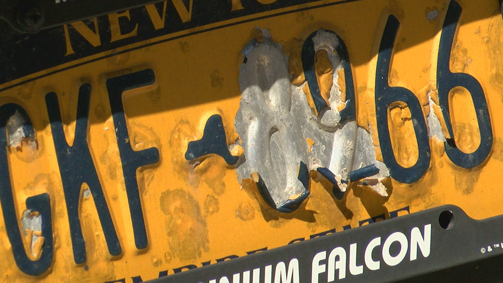 State says its monitoring peeling license plates