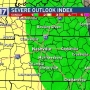 CODE RED Warning: Severe thunderstorms possible Sunday in Middle Tennessee