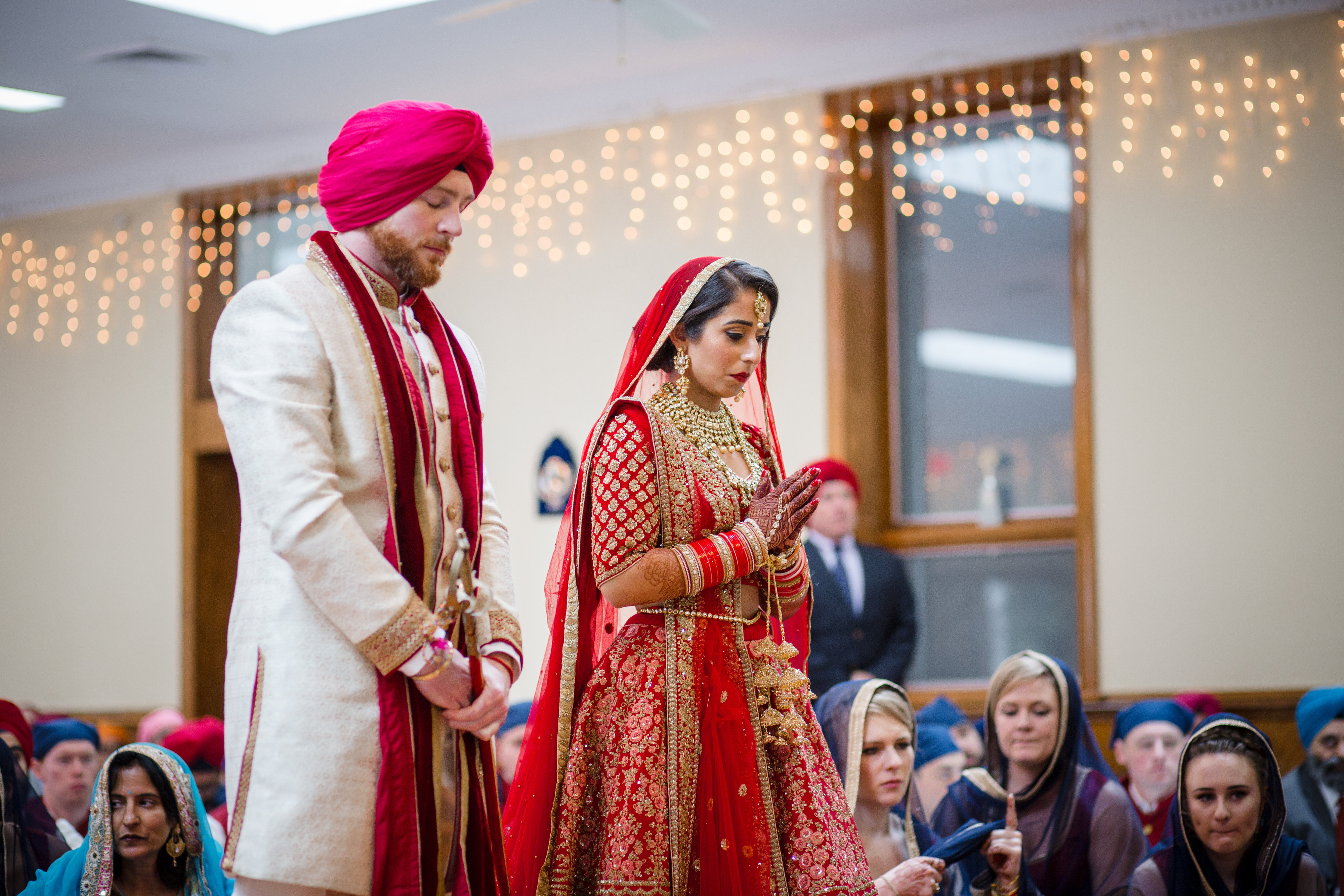 """We knew planning a multi-day, double ceremony wedding wouldn't be easy,"" says Manmeet. (Image: Laura Bryan Photography){ }"