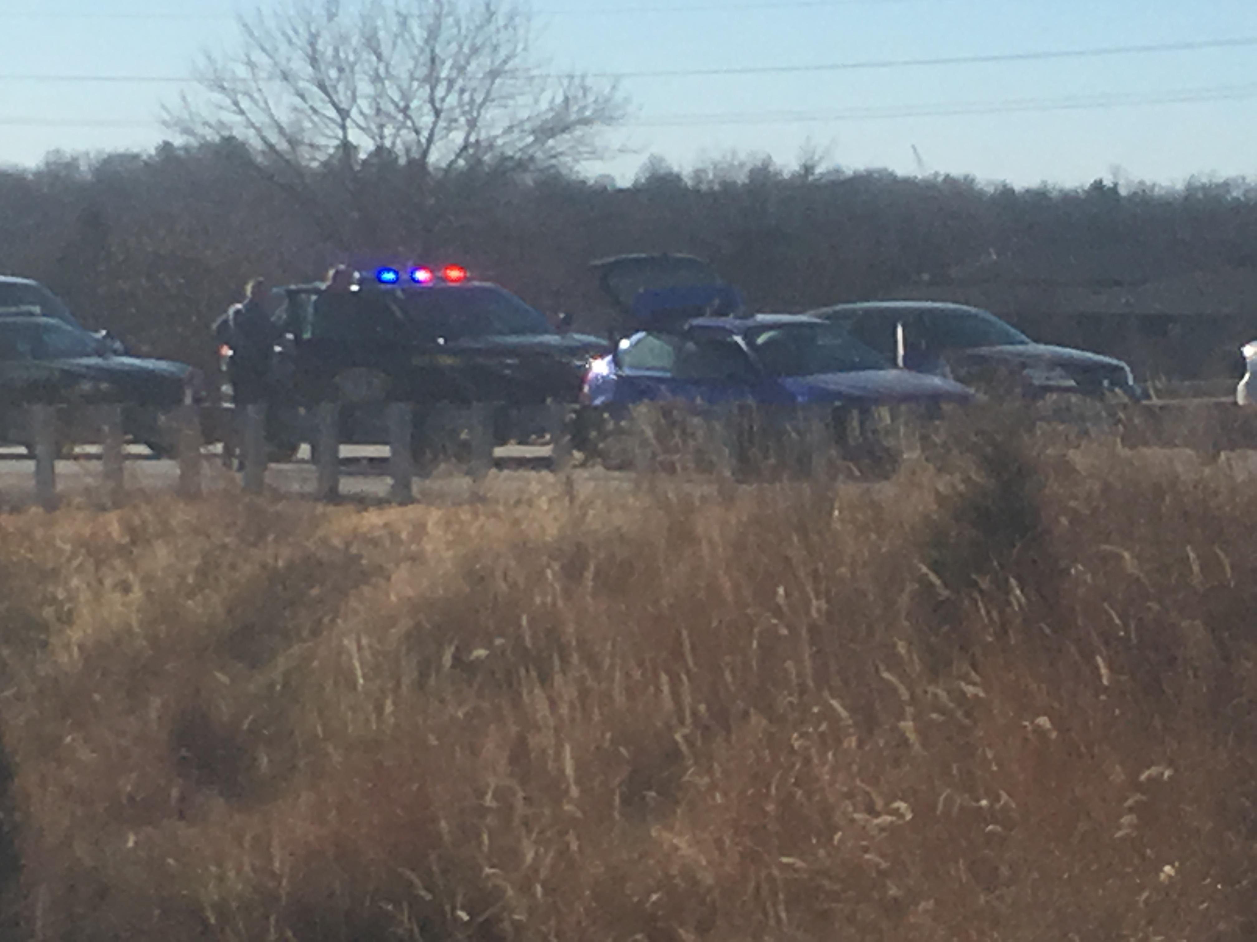 <p>The Missouri State Highway Patrol said a man was arrested Tuesday afternoon following a high speed chase.{&amp;nbsp;}(Mark Slavit/KRCG 13)</p>
