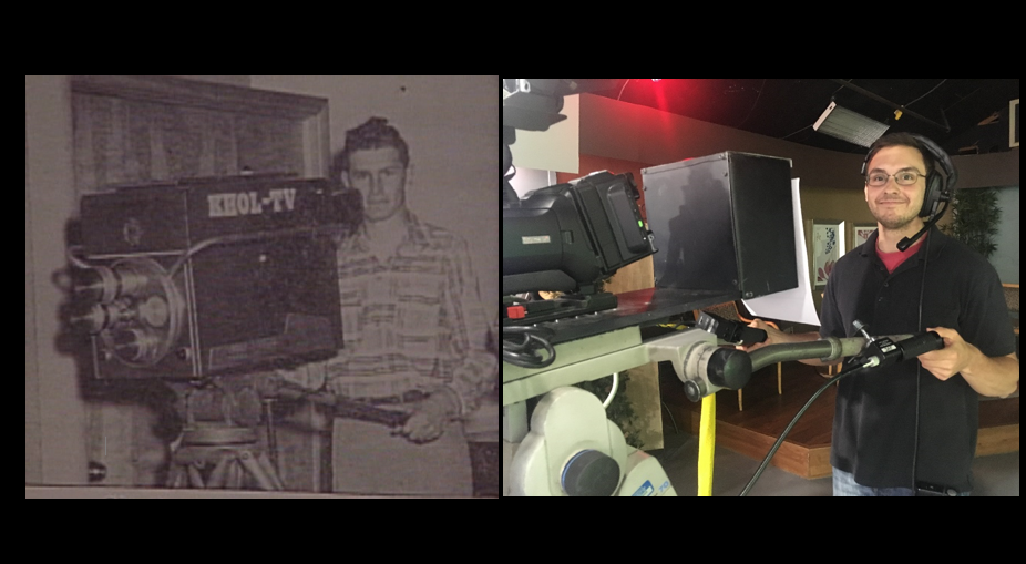 (1953 unidentified camera operator - 2017 Adam Watson) We now broadcast 6+ hours of news daily out of the NTV studios, the very same studios from the early days of KHOL.