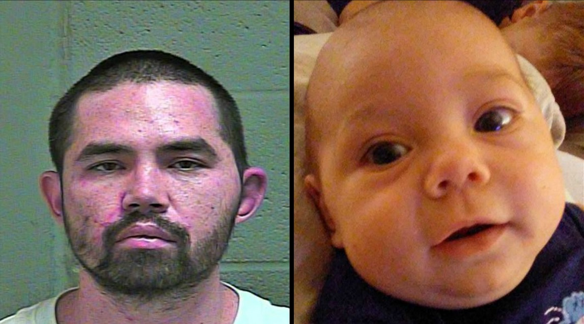 Victor Minjarez, 31, arrested after allegedly kidnapping his 7-month-old child. (Oklahoma County Sheriff's Office)
