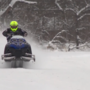 Heavenly weather for snowmobilers still calls for caution