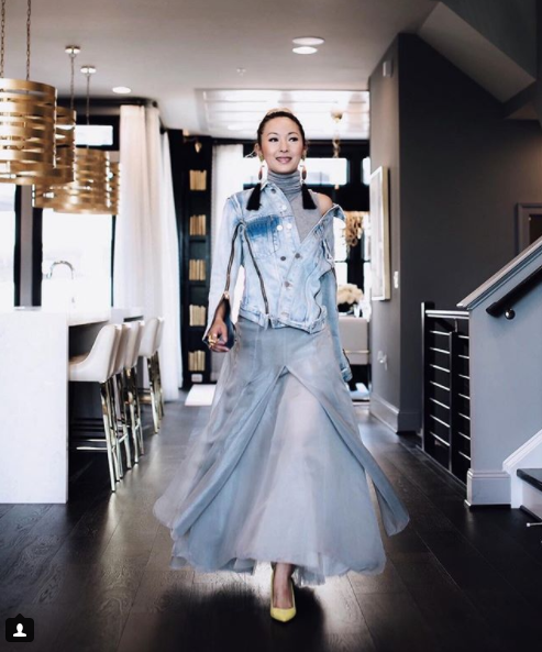 This lady's style never ceases to amaze and inspire, and she encourages us to take our own style risks. Loving how she dresses down a vintage tulle Chanel skirt with a casual denim jacket. Plus those earrings are to die for! (Image: Courtesy IG user @anchyi/ www.instagram.com/anchyi/){&amp;nbsp;}<p></p>