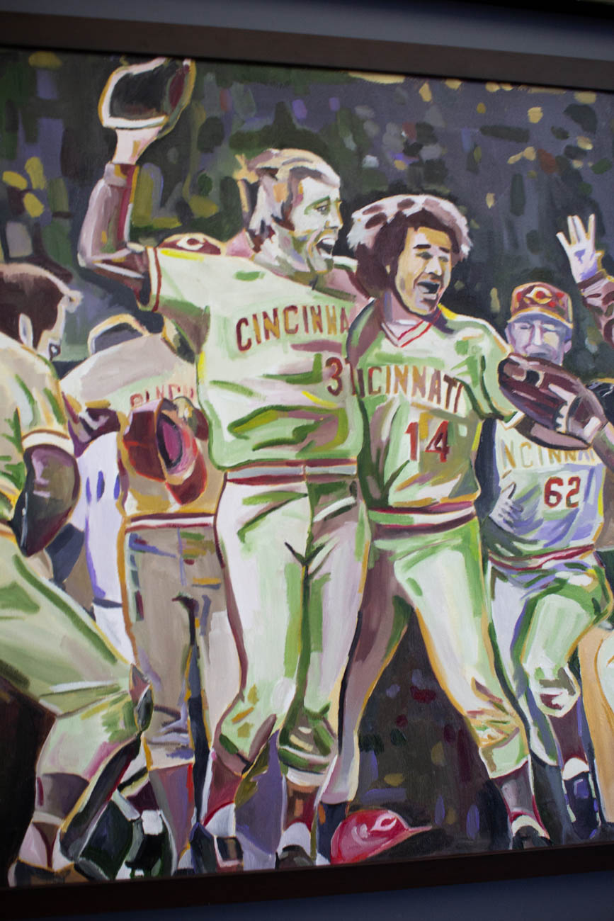 Aside from auctioning off original paintings for causes like the American Heart Association and fundraisers for fallen officers, Tony has featured his pieces in the Reds Hall of Fame Museum, Cincinnati Art Galleries, and other art exhibits and craft shows. / Image: Katie Robinson, Cincinnati Refined // Published: 2.16.20