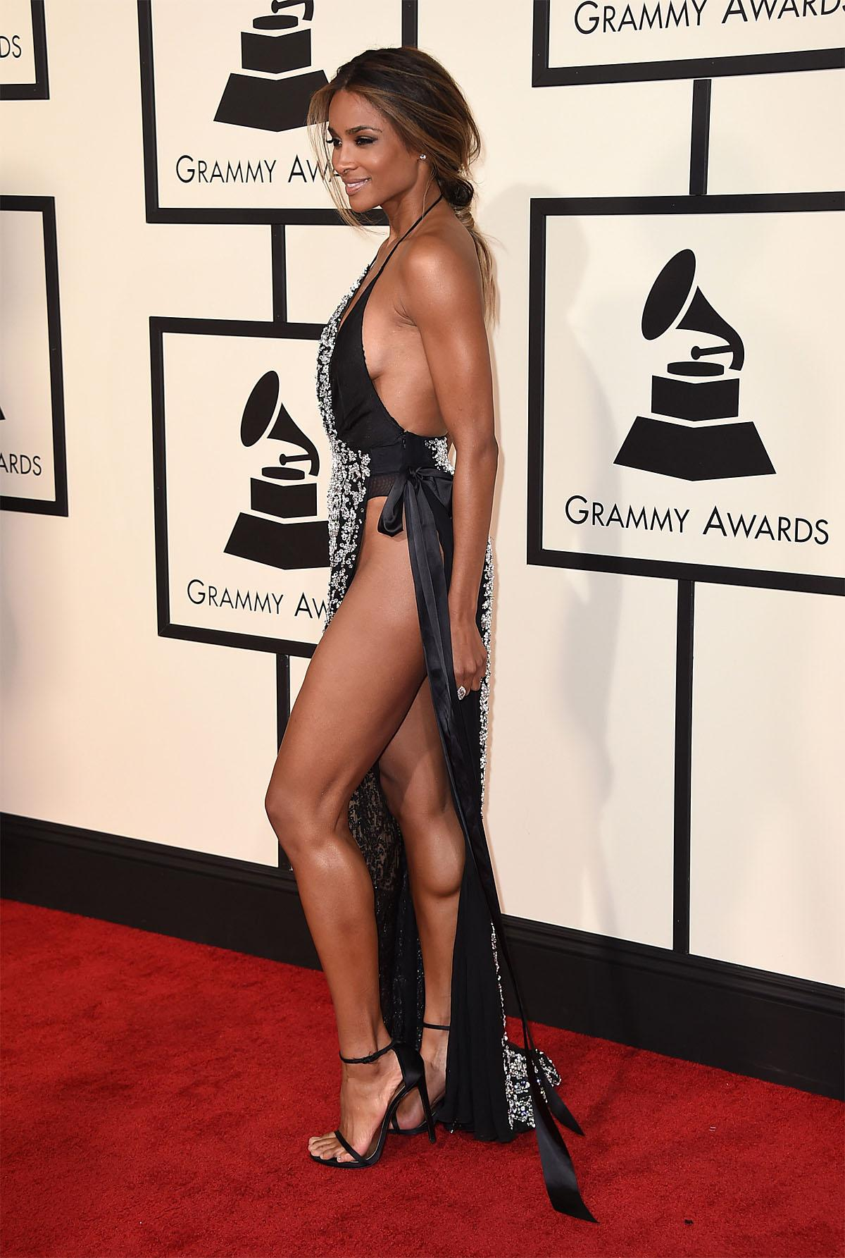 Ciara arrives at the 58th annual Grammy Awards at the Staples Center on Monday, Feb. 15, 2016, in Los Angeles. (Photo by Jordan Strauss/Invision/AP)
